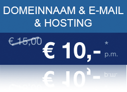 Domeinnaam + E-mail + Hosting